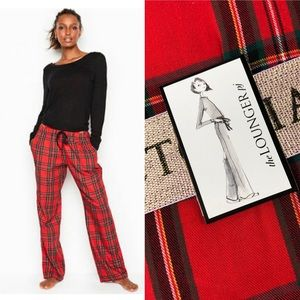 NWT Victoria's Secret Red Plaid Lounger PJ Set